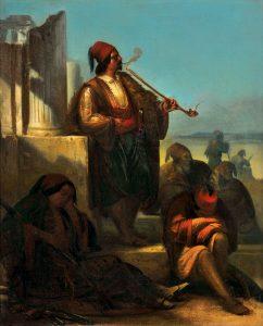 P. Hagelstein, Έλληνες αγωνιστές πλάι σε ερείπια