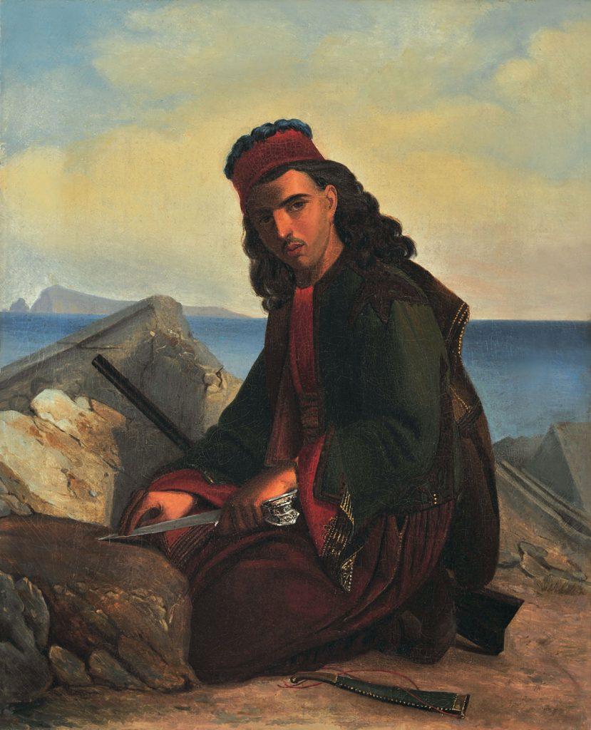 Έλληνας πολεμιστής σε αρχαία μάρμαρα