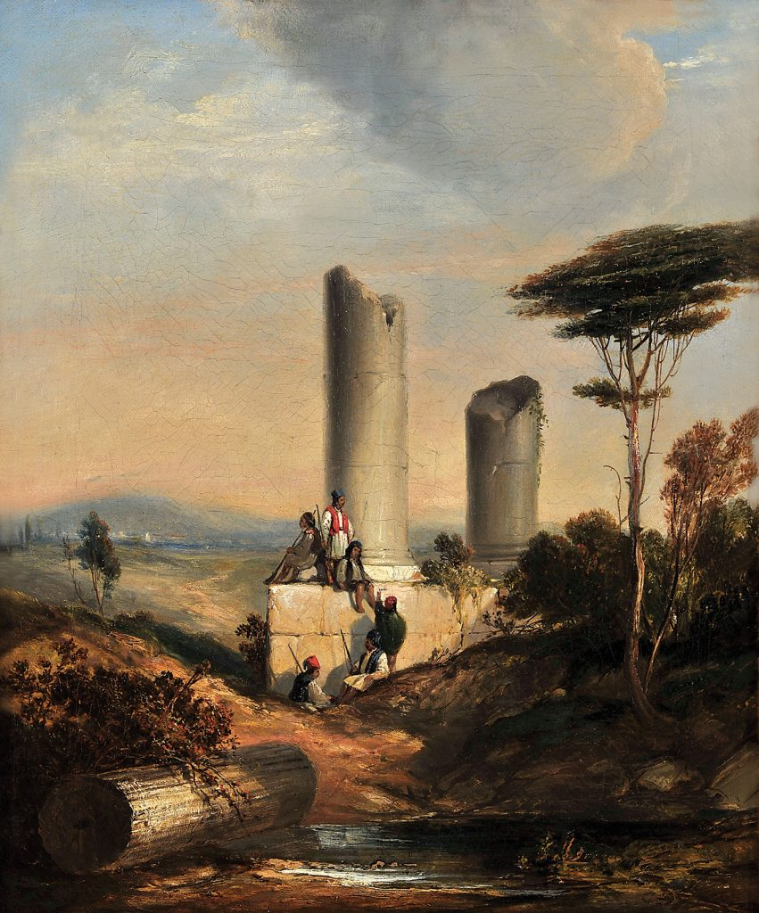 Έλληνες ανάμεσα σε αρχαία ερείπια