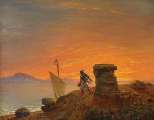 Crespy Le Prince, Έλληνας στον τάφο του Θεμιστοκλή