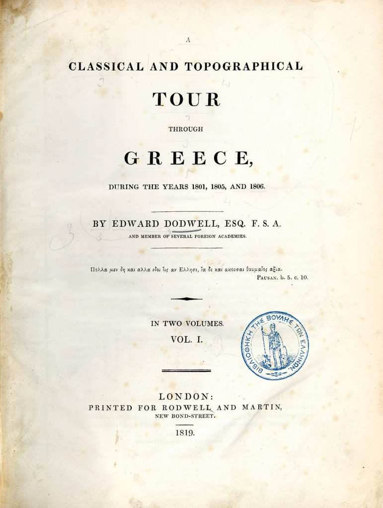 E. Dodwell, A Classical and Topographical Tour through Greece