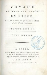 J.J. Barthélemy, Voyage du jeune Anacharsis en Grèce