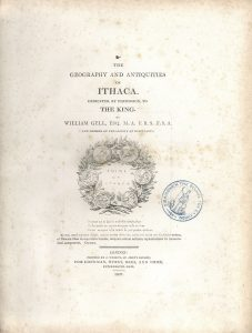 W. Gell, Geography and Antiquities of Ithaca