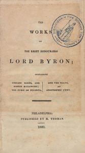 Lord Byron, The Curse of Minerva