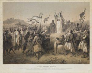 A. de Neuville, Πατριωτικός όρκος των Ελλήνων