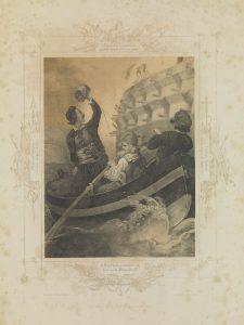 P. von Hess, Ο Ι. Τομπάζης πυρπολεί το πρώτο τουρκικό τρίκροτο