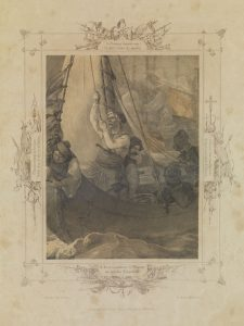 P. von Hess, Ο Κανάρης πυρπολεί περί την Χίο