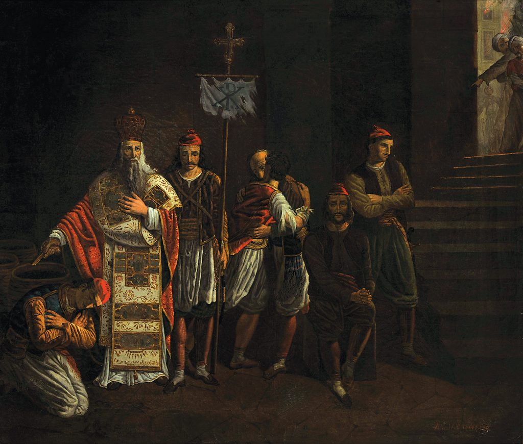 A. Jaquème, Οι τελευταίοι υπερασπιστές του Μεσολογγίου
