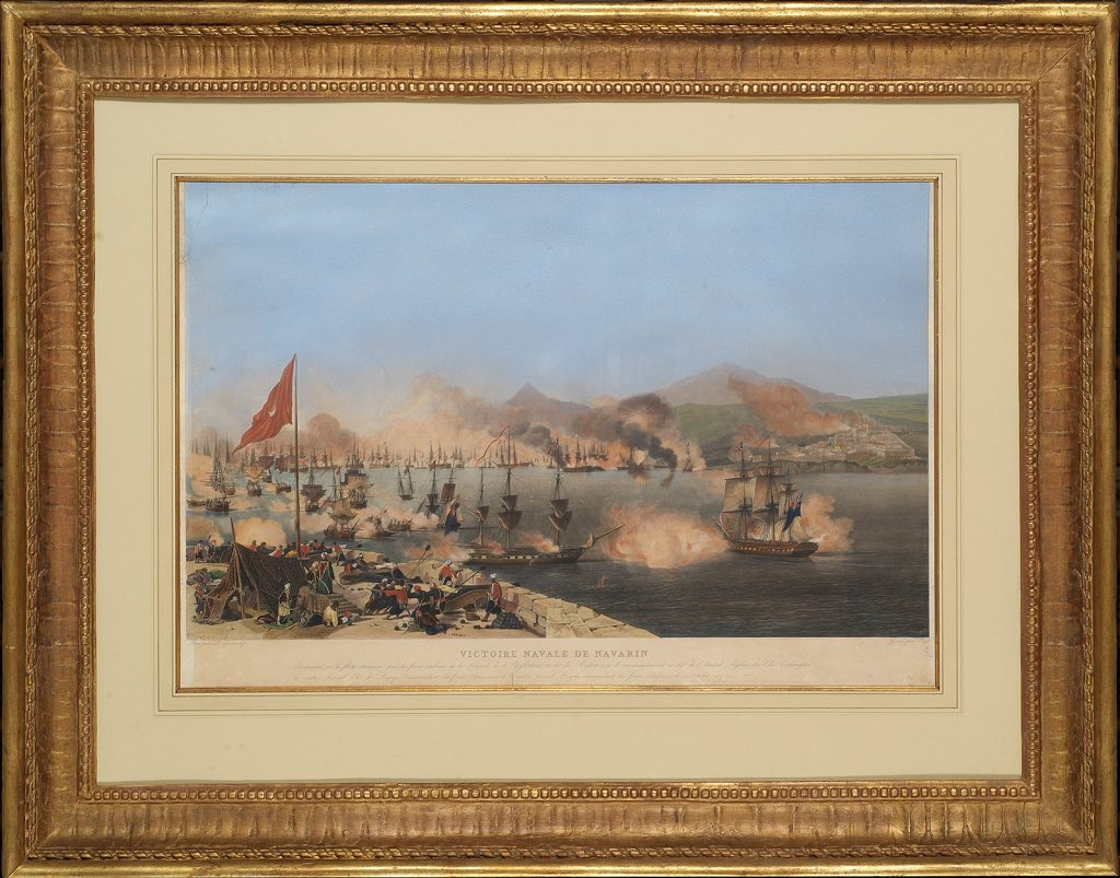J.P.M. Jazet, Η ναυμαχία του Ναυαρίνου