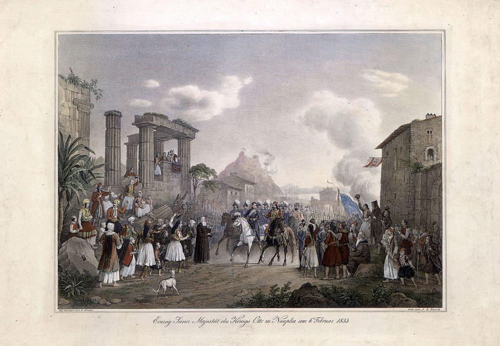 G.W. Kraus, Η είσοδος του Όθωνα στο Ναύπλιο