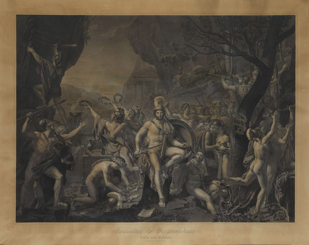 J.N. Laugier, Ο Λεωνίδας στις Θερμοπύλες του David