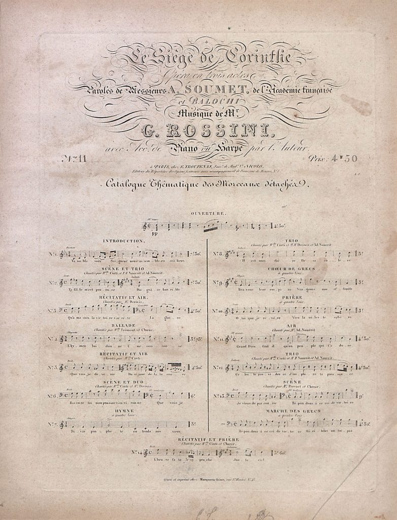 G.A. Rossini, Η πολιορκία της Κορίνθου