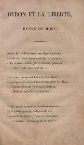 É. Louvet, Byron et la liberté