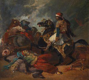 Σχολή Delacroix, Ο Γκιαούρ μονομαχεί με τον Χασάν