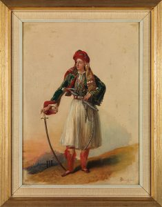 A.J. Dubois-Drahonet, Νεαρός Φιλέλληνας