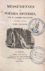 C. Delavigne, Messéniennes