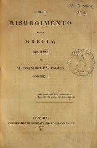 A. Battaglia, Sopra il Risorgimento della Grecia