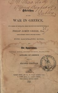 P.J. Green, Sketches of the war in Greece