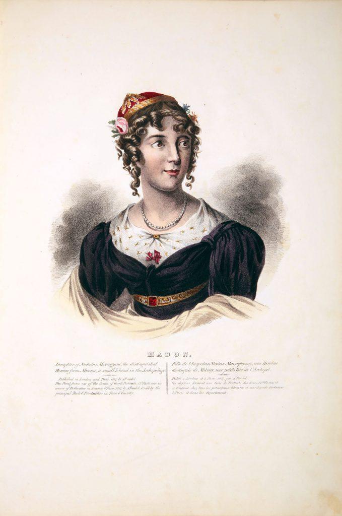 A. Friedel, Η Μαντώ Μαυρογένους