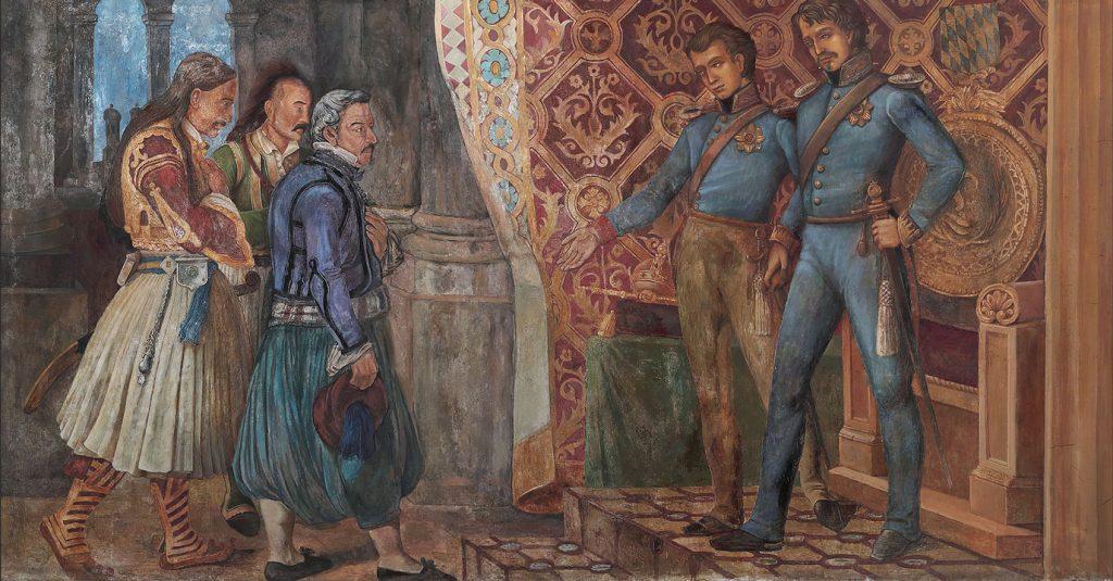 Ζωφόρος - Ο Λουδοβίκος Α΄ παρουσιάζει τον Όθωνα στους Έλληνες απεσταλμένους στο Μόναχο